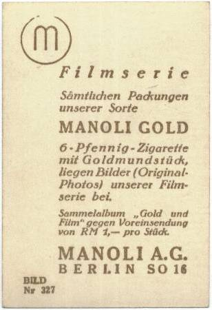 1930's Manoli Gold Buddy Rogers & Nancy Carroll
