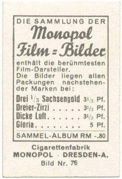 1930's Monopol Film Bilder Tom Mix