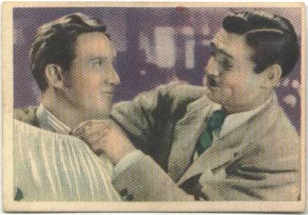 1930s Cromos Cinefoto Clark Gable with Spencer Tracy