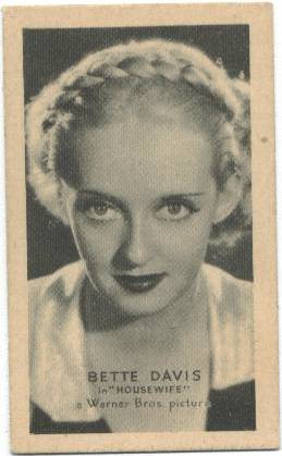 1940 Bette Davis Brown and Williamson Golden Grain Card