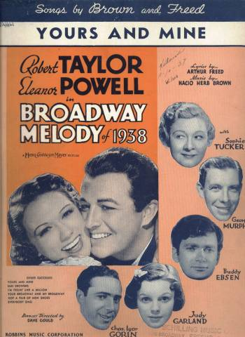 Sheet Music from Broadway Melody of 1938