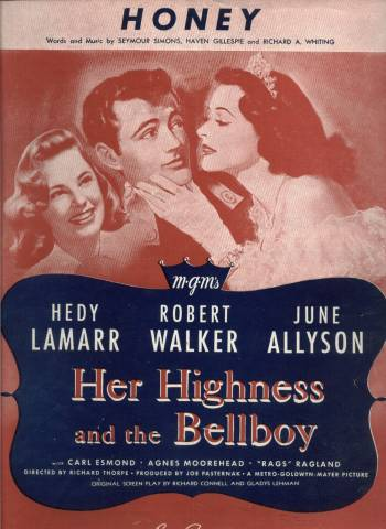 Sheet Music from Her Highness and the Bellboy