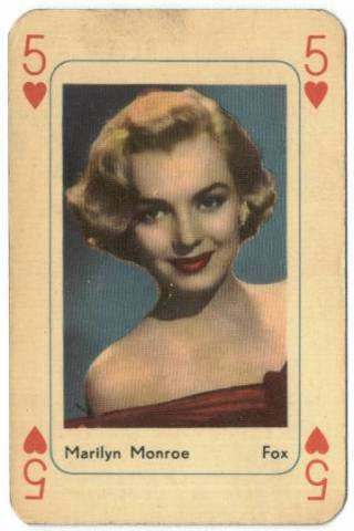 Marilyn Monroe the 5 of Hearts