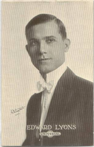 Edward Lyons - 1915 Universal Actors & Actresses Post Card