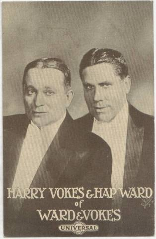 Ward & Vokes - 1915 Universal Actors & Actresses Post Card