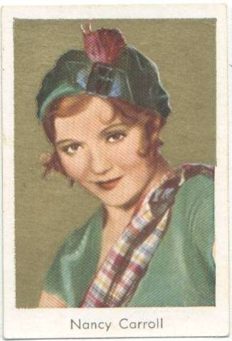 1934 Salem's Tobacco Card Nancy Carroll