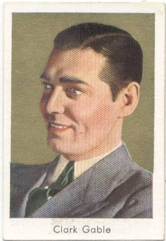 1934 Salem's Tobacco Card Clark Gable