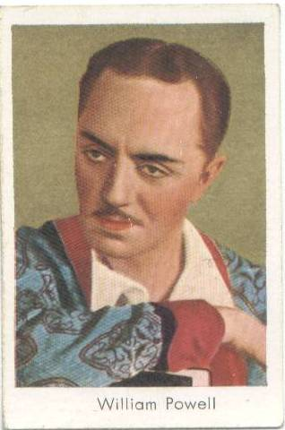 1934 Salem's Tobacco Card William Powell