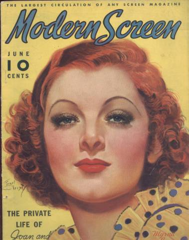 Modern Screen June 1936 Issue featuring Myrna Loy sold by things-and-other-stuff