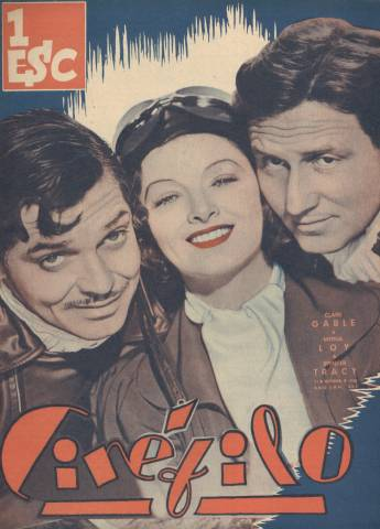 Cinefilo from Portugal Nov 11, 1938 Clark Gable & Spencer Tracy & Myrna Loy