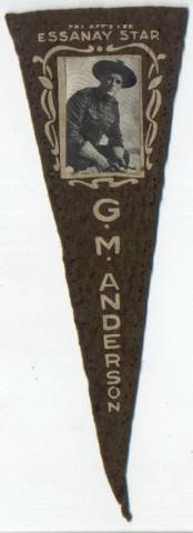 1915 GM Broncho Billy Anderson Felt Pennant