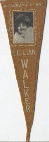 1915 Lillian Walker Felt Pennant
