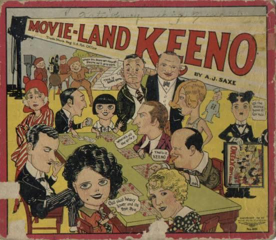 1929 Movie-Land Keeno Box Cover