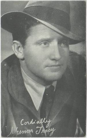 1930s-1940s Spencer Tracy MADE IN USA Arcade Card