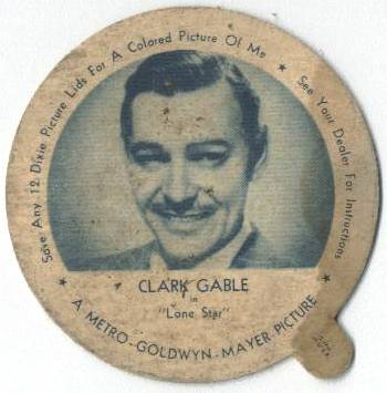 Clark Gable Dixie Lid