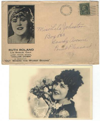 1925 Ruth Roland Fan Photo Package