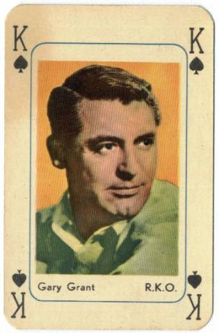 1950's Cary Grant Printed in Holland Playing Card