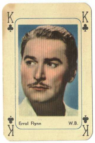 1950's Errol Flynn Printed in Holland Playing Card