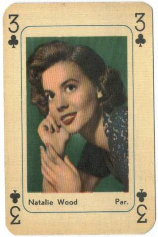 1950's Natalie Wood Printed in Holland Playing Card