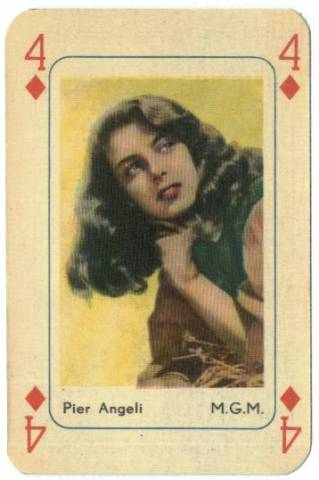 1950's Pier Angeli Printed in Holland Playing Card