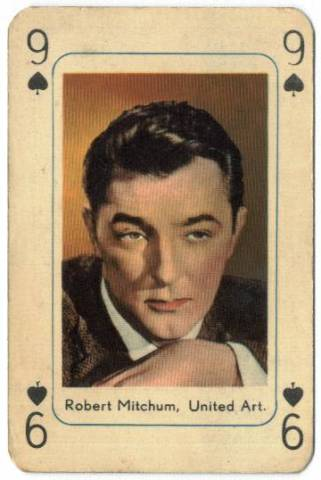 1950's Robert Mitchum Printed in Holland Playing Card