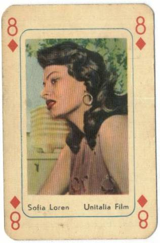 1950's Sophia Loren Printed in Holland Playing Card