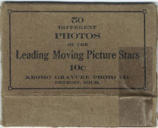 Box for 1917 Kromo Gravure Trading Cards