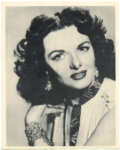 1954 Jane Russell Star Pictures Premium Photo