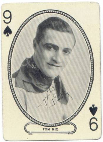 1916 Tom Mix MJ Moriarty Playing Card