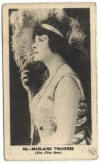 1923 Madlaine Traverse B. Morris & Sons Film Star Series Tobacco Card
